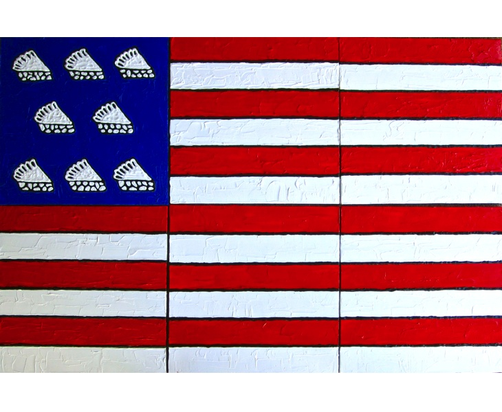 American Pie 2012 48×32 (six 16×16 panels) acrylic on canvas
