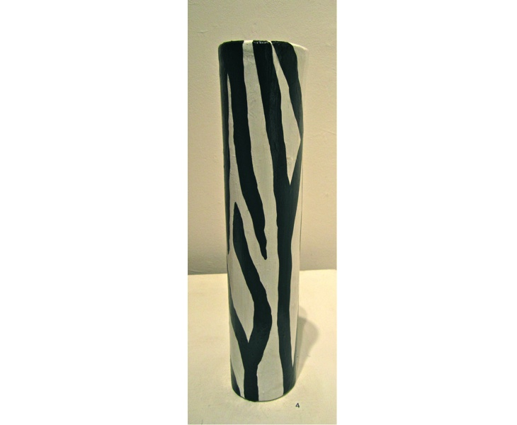 Bamboo Zebra 2011 3x12 acrylic on bamboo (weather resistant) SOLD