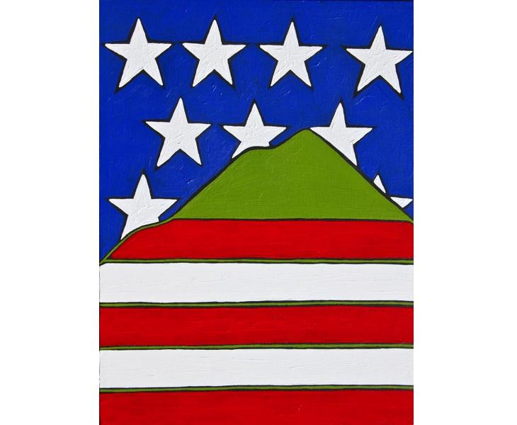 Free Range Marin 2 2012 12x16 acrylic on canvas