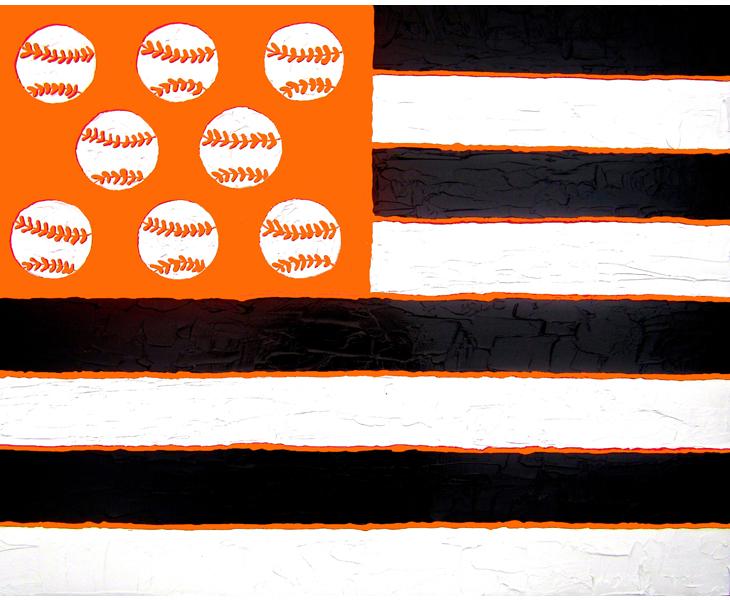 I Pledge Allegiance 2012 28x24 acrylic on canvas SOLD