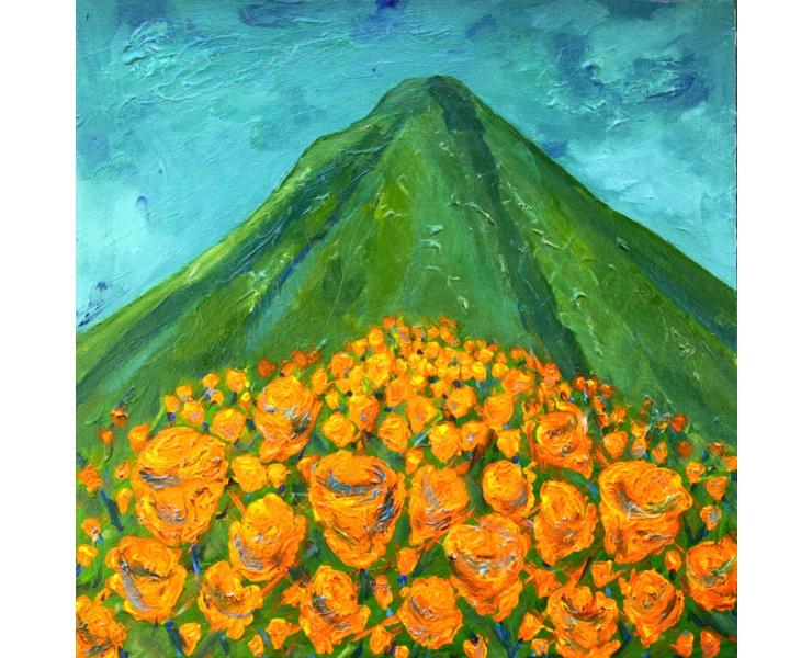 Mountain Poppies 2011 20x20 acrylic on canvas