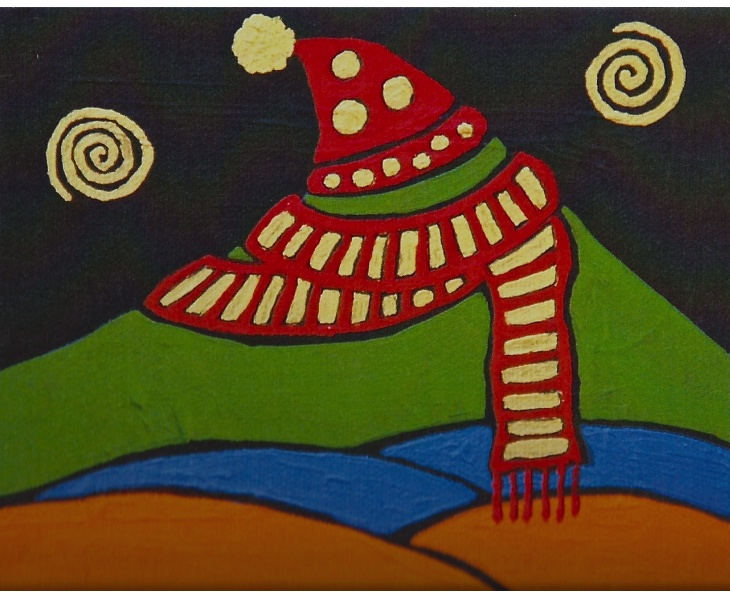 Mt. Tam In Hat and Scarf 2011 5x7 blank card