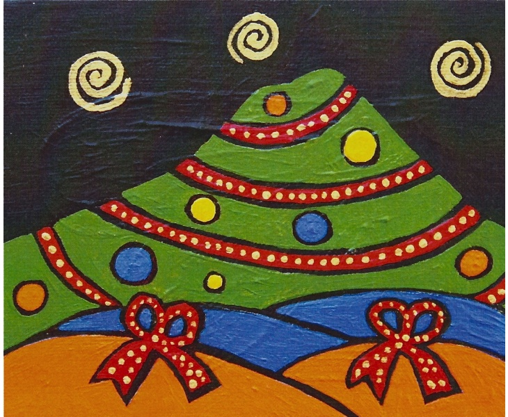 Mt. Tam Ready for Christmas 2011 5x7 blank card