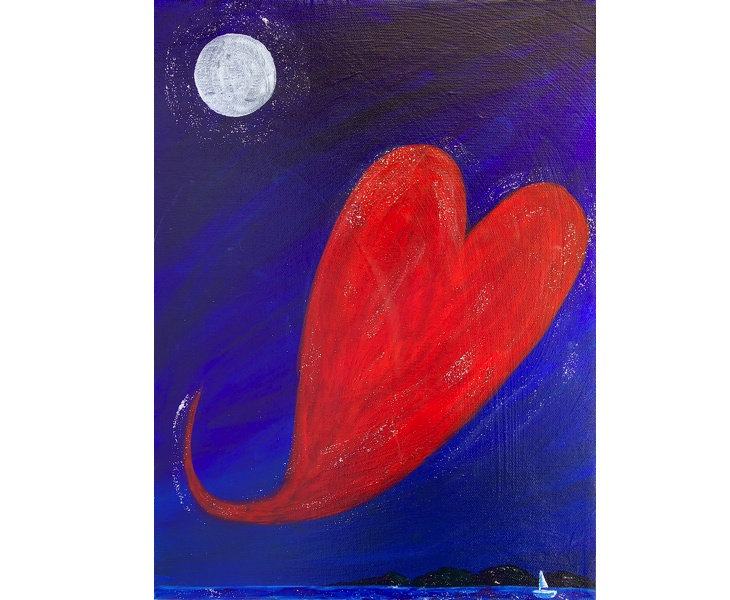My Heart Sets Sail 2011 12x16 acrylic & mixed media on canvas SOLD