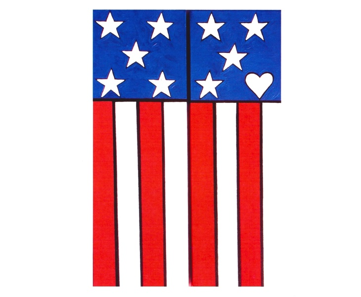 My Lovely American Flag 2012 blank 5x7 card