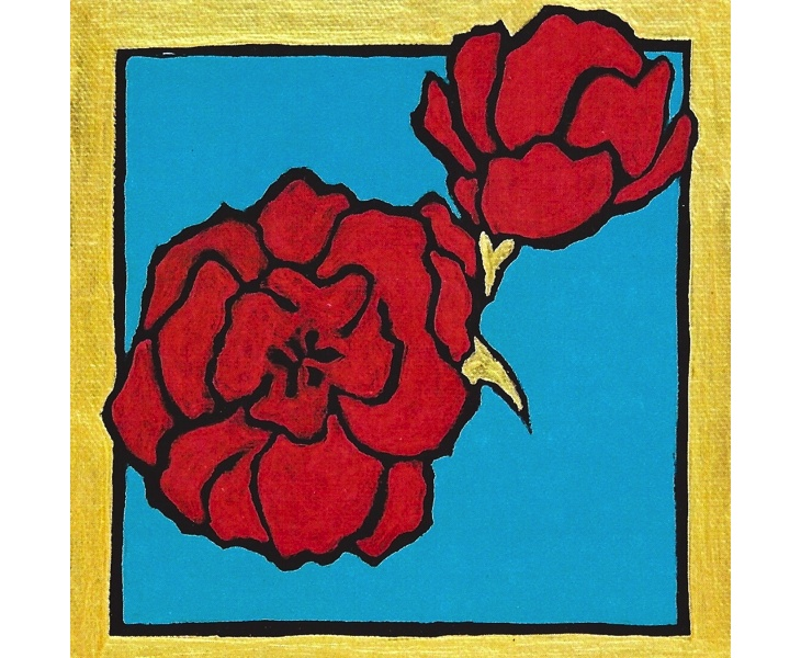 Red Flower 2011 5x7 blank card