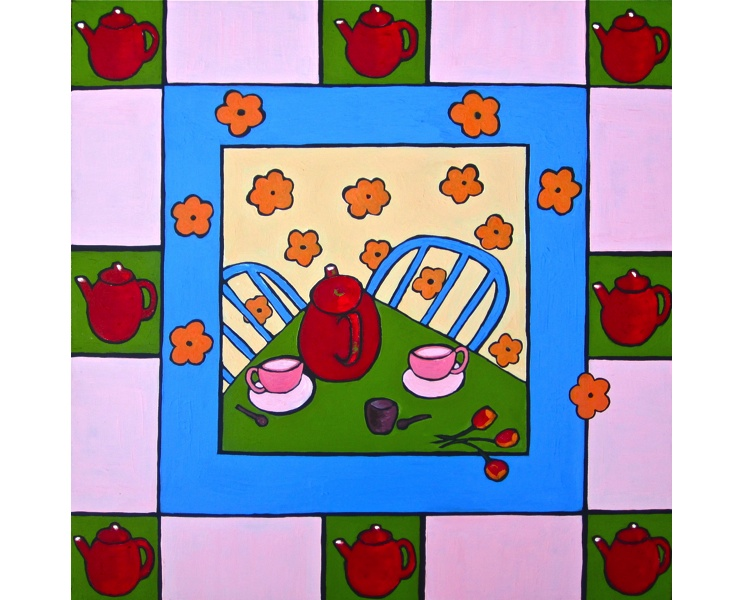 Tea for Two 2012 5x7 blank card