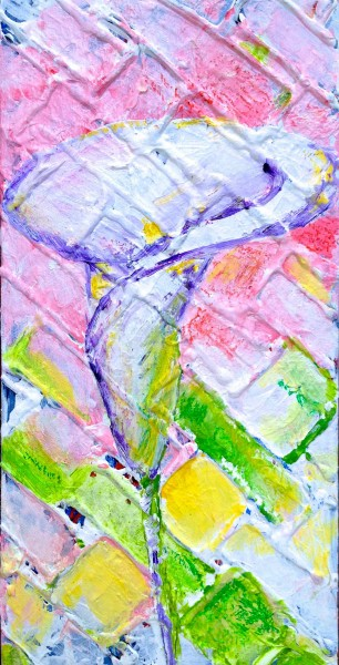 Gift 2013 6x12 acrylic and oil pastel on canvas SOLD
