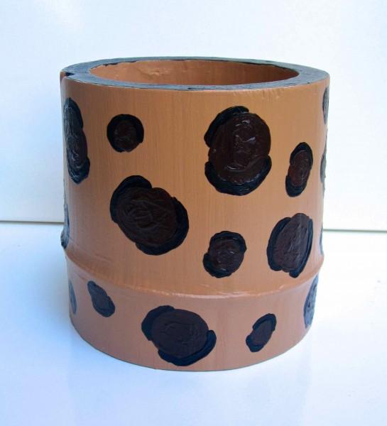 Medium Leopard Bamboo Vessel 2013 SOLD