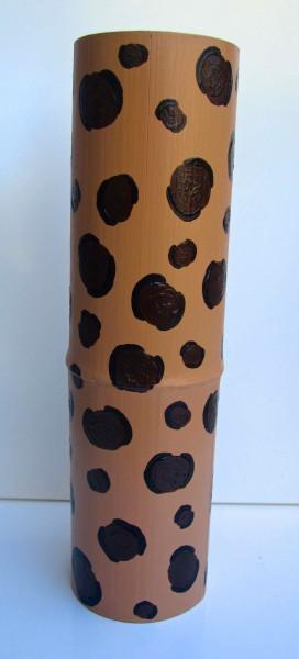 Tall Leopard Bamboo Vessel 2013