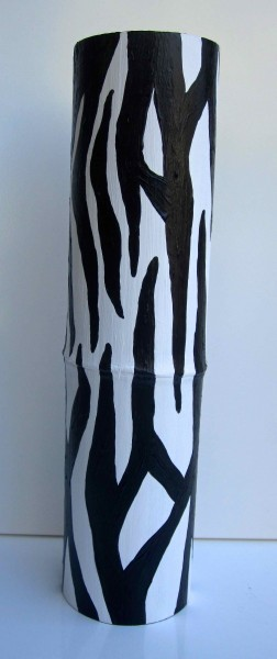 Tall Zebra Bamboo Vessel 2013